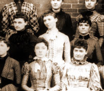 Alice M. Holden<br>(center of middle row)