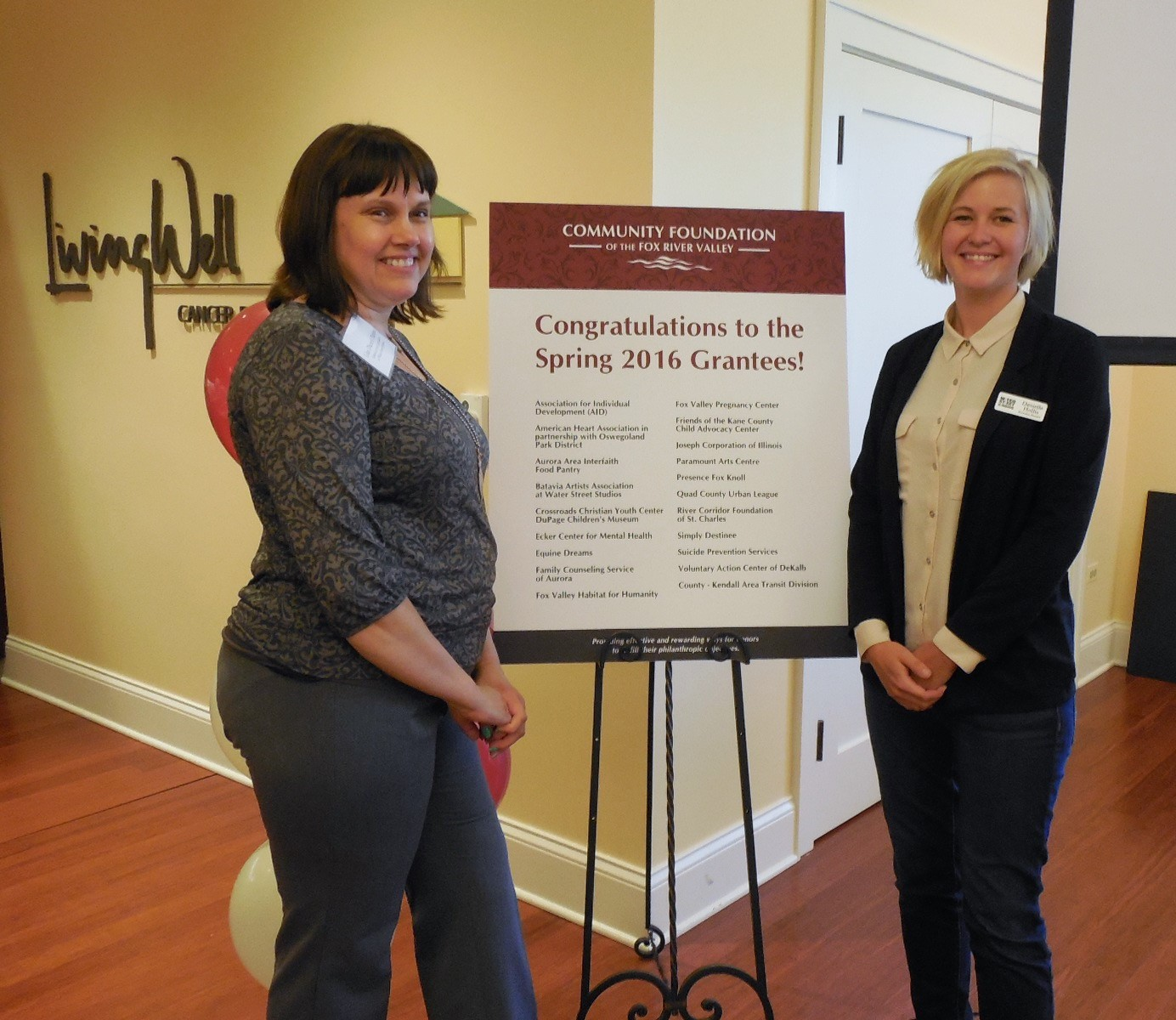 Spring 2016 Grantee Recognition Ceremony Community
