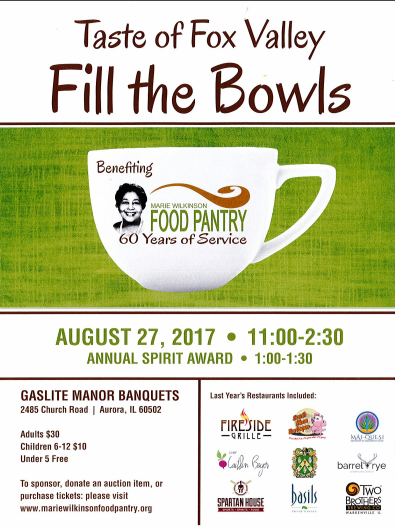 Taste Of Fox Valley Fill The Bowls Benefiting Marie